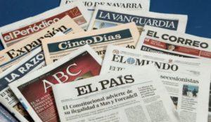 Los grandes grupos de prensa españoles ingresan 56 millones de euros menos que en 2016