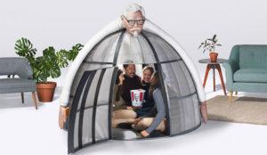 KFC lanza una delirante tienda de campaña para huir de la Navidad y sus horrores