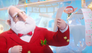 El críptico dibujo de un niño deja fuera de combate a Papá Noel en este spot animado
