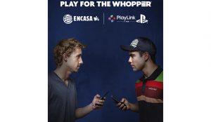 Burger King y Playstation retan a los jugadores compitiendo con  Playlink