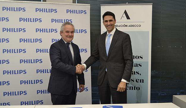 Philips Lighting y la Fundación Adecco firman un acuerdo para promover la inserción laboral