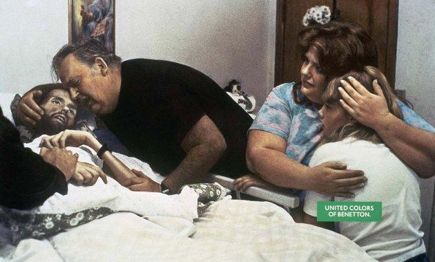 Toscani la vuelta del fot grafo que no pide ni permiso ni for Benetton sida
