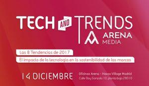 Los secretos de la tecnología y el marketing al descubierto este 14 de diciembre en Arena Tech and Trends 2017