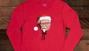 Camisetas, papel de regalo y calcetines: los productos navideños de KFC