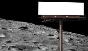 La publicidad quiere mudarse a la Luna (porque ya no caben más anuncios en la Tierra)