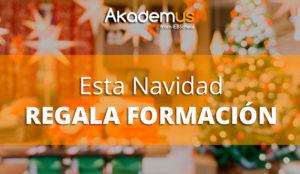 Akademus propone que la formación sea el mejor regalo para estas navidades