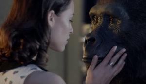 Un gorila y una mujer hacen rugir los motores de su corazón en este