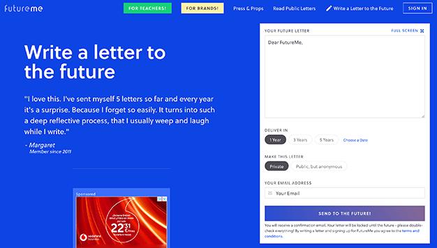 webs carta a tu yo del futuro
