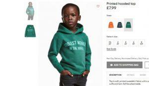 H&M acusada de racismo por una de las fotografías de su tienda online