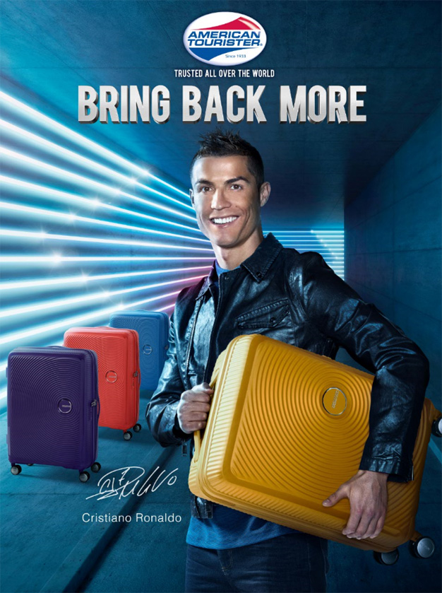 Cristiano Ronaldo protagoniza la última campaña de American Tourister