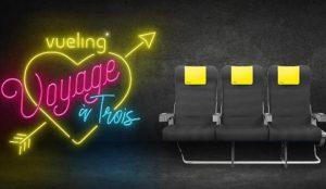 Vueling lanza por San Valentín la promoción Voyage à trois