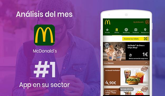 McDonald's, líder de la restauración en la aplicación móvil