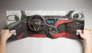 Con este anuncio pop-up podrá sentir (y oler) lo que es estar a bordo de un Toyota Camry