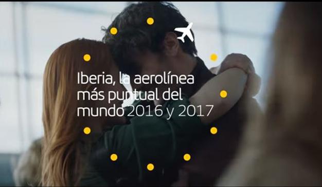 Una nueva campaña celebra que Iberia es la aerolínea más puntual del mundo