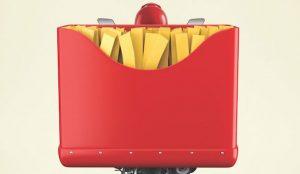 La comida se apodera de las motos de reparto en esta original campaña de McDelivery