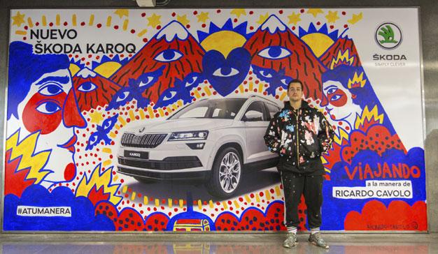 ŠKODA y Proximity Barcelona presentan la artística acción