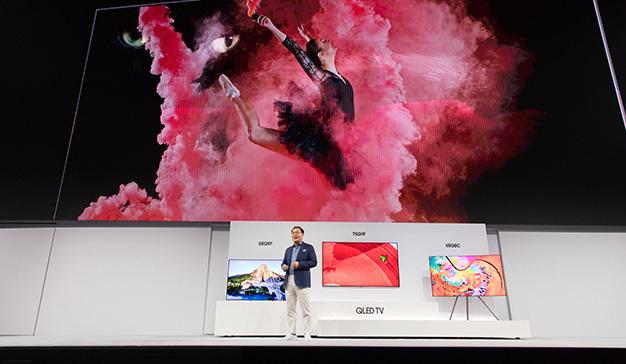 Samsung presenta su línea de productos Home Entertainment 2018