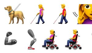 Apple crea nuevos emojis para concienciar sobre la discapacidad