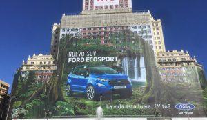 Ford triplica su notoriedad en Publicidad Exterior en Madrid