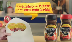 Nescafé vuelve a ofrecer a sus consumidores un sueldo para toda la vida