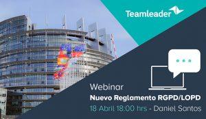 Teamleader lanza el webinar sobre el nuevo reglamento del DGPR
