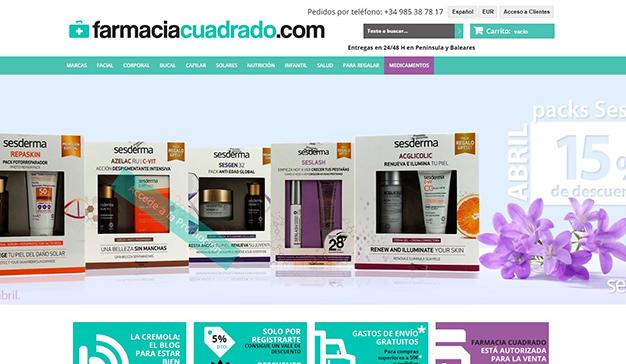 Farmacia Cuadrado, la primera farmacia online de España que entrega el mismo día