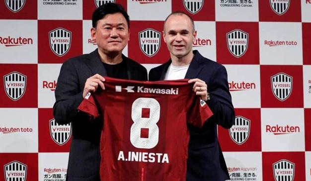 Iniesta será la nueva cara de Rakuten tras su llegada al equipo japonés Vissel Kobe