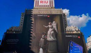 Huawei rompe en España un Récord Guiness con la mayor valla publicitaria del mundo