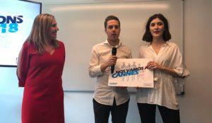 Esta es la pareja ganadora de la división española de Young Lions Media 2018, presentada por CARAT y SCOPEN