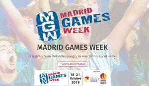 Ya están a la venta las entradas para asisitir a Madrid Games Week