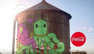 Coca-Cola inaugura el verano con una refrescante y grafitera campaña