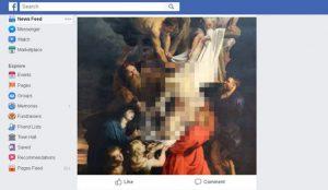 Facebook censura hasta al propio Jesucristo por mostrar el torso desnudo