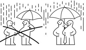 IKEA da una lección de educación a Putin acogiendo a todo el mundo bajo su paraguas