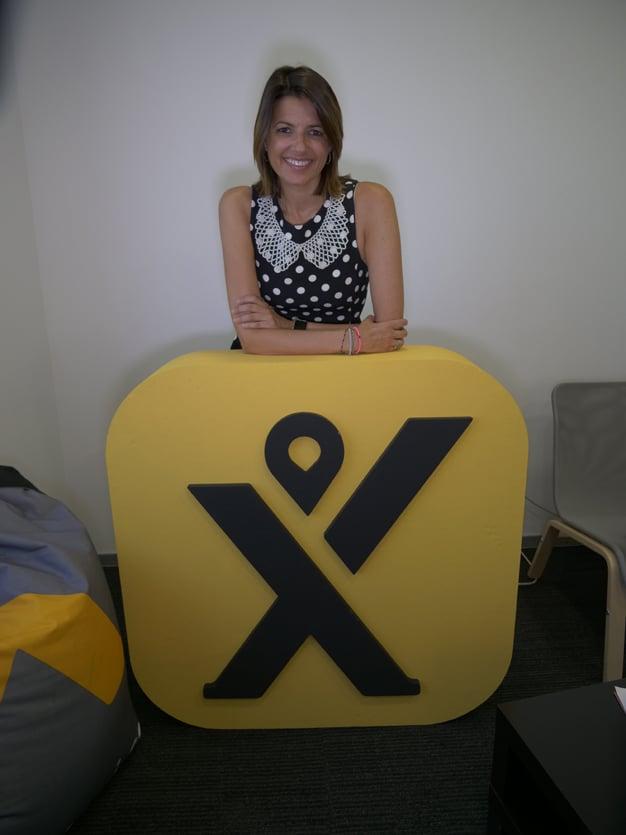 Sandra Sancho, de mytaxi, en las oficinas de Madrid