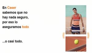 Garbiñe Muguruza protagoniza la nueva campaña publicitaria de Caser