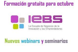 IEBS: formación gratuita de la mano de los mejores profesionales para acabar el mes de octubre