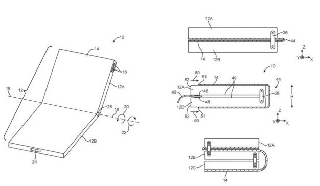 Así funcionaría un iPhone plegable según esta patente de Apple