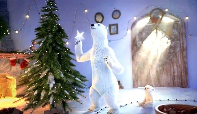 Los osos polares de Coca-Cola nos enseñan a ser una familia ejemplar esta Navidad