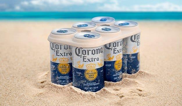 Corona, la primera marca global en lanzar six packs libres de plástico