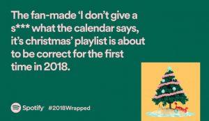 Spotify presume del mejor data driven marketing en Wrapped 2018