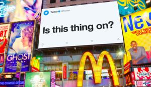 Twitter lleva su nueva conversación a las grandes pantallas de Times Square