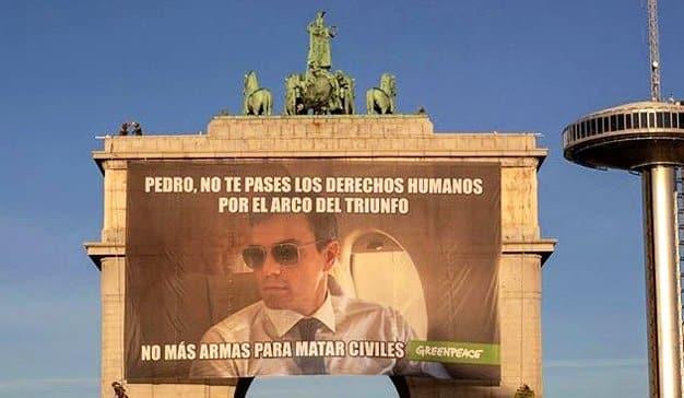 Greenpeace pone a Pedro Sánchez en el punto de mira con su última campaña