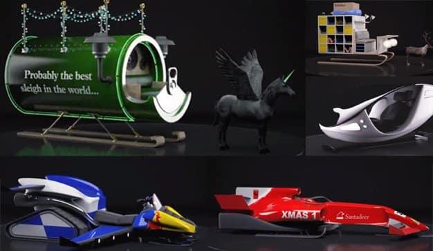 Así sería el trineo de Papá Noel si hubiese sido diseñado por Apple, IKEA o Carlsberg