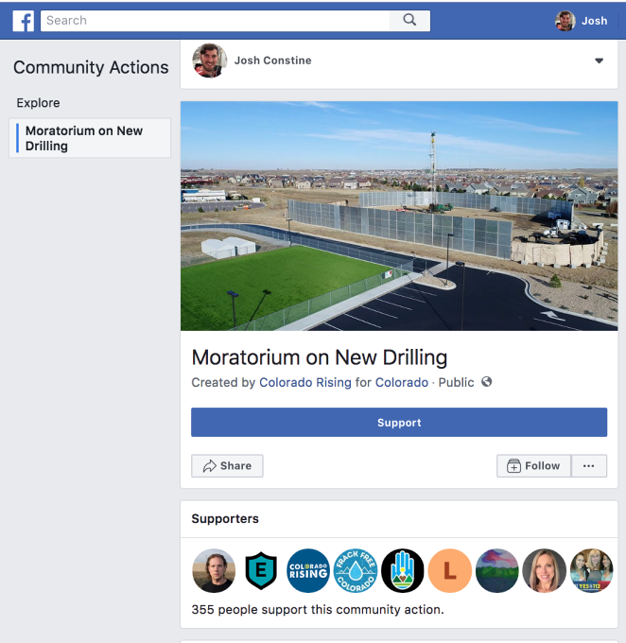 Facebook-Community-Actions