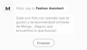 Mango lanza Fashion Assistant, un chatbot de reconocimiento de imágenes integrado en su app