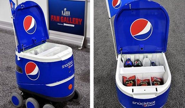 Snackbot, el carrito autónomo de Pepsi para calentar los ánimos y llenar el estómago de cara a la Super Bowl
