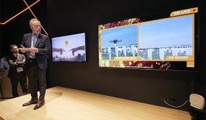 Samsung, Cisco y Orange presentan un dron y robots industriales conectados con tecnología 5G en MWC