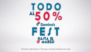 Domino's Fest la mejor oferta online