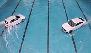 Audi se tira a la piscina con una demostración de