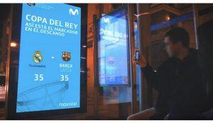 Movistar y JCDecaux sacan a las calles de Madrid la final de la Copa del Rey de baloncesto